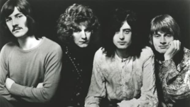 Led Zeppelin's first album, Led Zeppelin I, was one of the biggest albums to make waves in 1968. Photo: Atlantic Records.