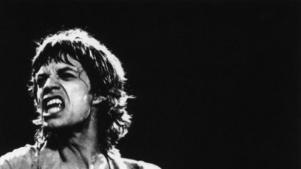 Photographer Phillip Kamin calls this photo of Mick Jagger of The Rolling Stones his favorite image from all his years of shooting concerts. (The Phillip Kamin Collection)