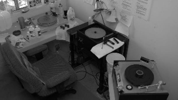 Better Records' cleaning area — the first step in finding a hot stamper, according to Tom Port, is to clean the records. (Tom Port)