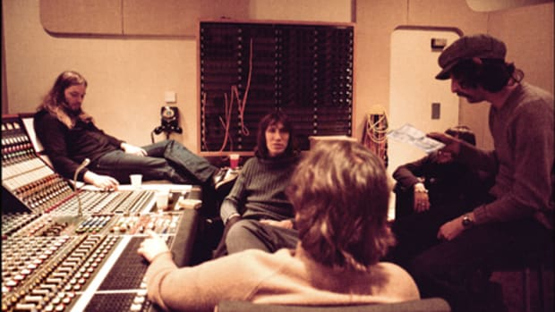 Pink Floyd Gilmour Waters In Studio