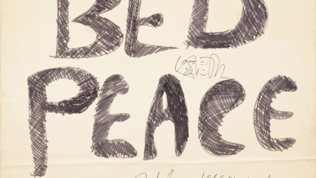 Lennon Ono Bed Peace Placard