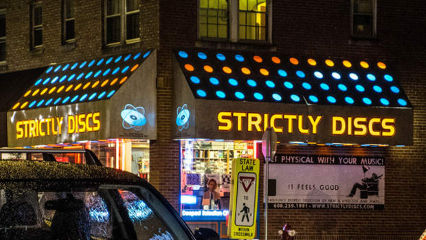 Strictly Discs record shop in Madison, Wis.