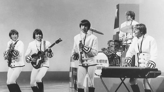 "TV appearances, including several in conjunction with Dick Clark, helped boost the visibility of Paul Revere & The Raiders. ""Where The Action Is"" and ""Happening"" were among the shows members graced. Photo courtesy Phil ""Fang"" Volk"