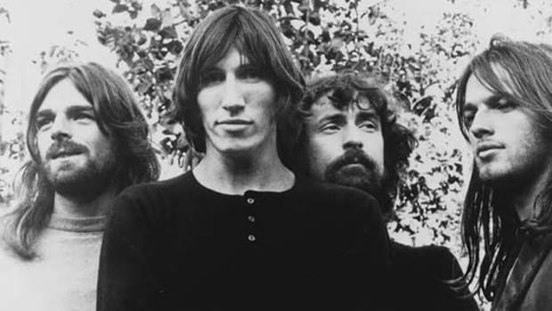 Pink Floyd at its new beginning (left to right, Richard Wright, Roger Waters, Nick Mason, and David Gilmour).
