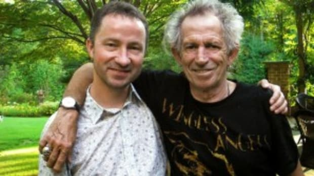 Paul Sexton (pictured above at left with Keith Richards) interviewed Richards at his Connecticut home for the stellar BBC Radio 2 special At Home with Keith Richards.