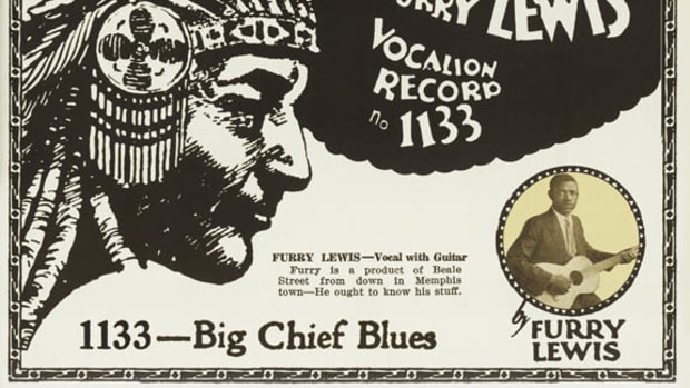 Furry Lewis Big Chief Blues advertisement