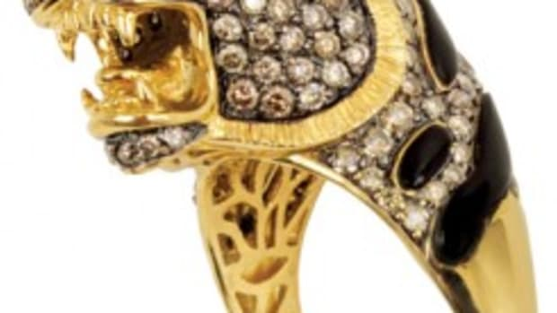THIS 'MR. TIGER' ring, which brought $27,354 at auction, was owned and worn by Elvis Presley. Photos courtesy of Gotta Have It!