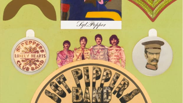 Sgt Pepper insert artwork by Peter Blake and Jann Haworth courtesy Sotheby's