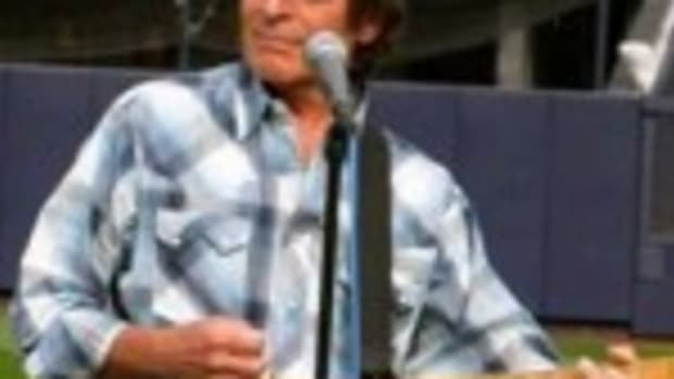 "John Fogerty plays ""Slugger."" (Photo by Julie Fogerty)"