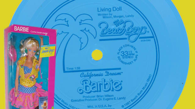 Eva-Tone's 1987 Living Doll flexidisc by Brian Wilson of The Beach Boys