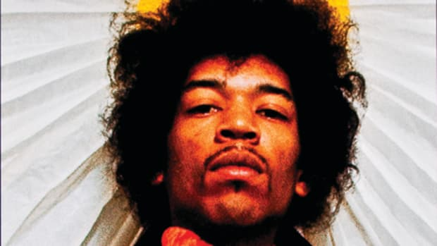 Long before Jimi Hendrix wowed Monterey Pop Festivalgoers with his incredible guitar work, he was working in backing bands and even had a stint in the U.S. Army. This limited-edition signed photo (No. 3 of 100) by Karl Ferris sold for $717 at auction in July 2011. Photo courtesy Heritage Auction Galleries.