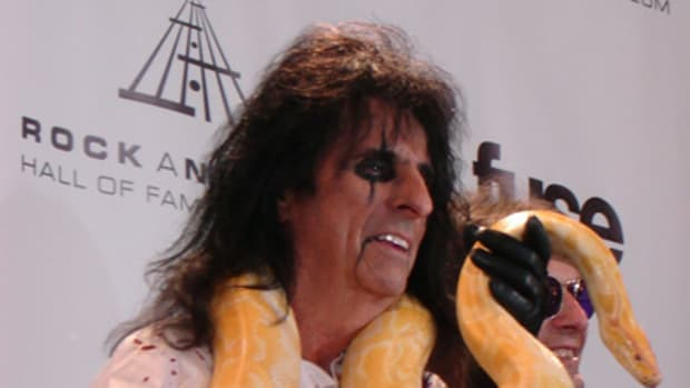 Alice Cooper with snake. Photo by Carol Anne Szel