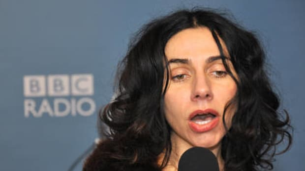 PJ Harvey performed a new song and was interviewed last month on The Andrew Marr Show on BBC-TV.