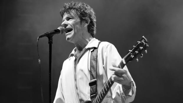 Replacements leader Paul Westerberg in action early on during the band's May 9 show in Philadelphia. (Photo by Chris M. Junior)