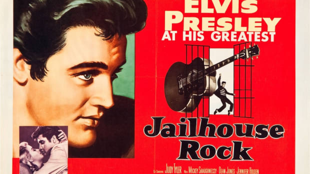 "THIS HALF-SHEET movie poster from ""Jailhouse Rock"" brought $507.88, including buyer's premium, at the Heritage Auction Galleries July 2010 Signature Movie Poster auction. Photo courtesy Heritage Auction Galleries"