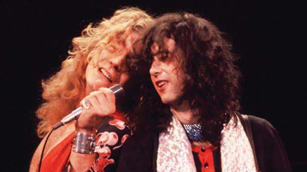 Robert Plant and Jimmy Page. Photo courtesy Richard Kwasniewski/Frank White Photo Agency