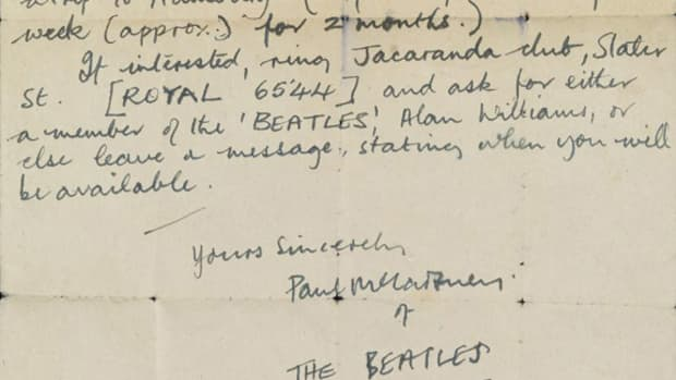 Paul McCartney letter