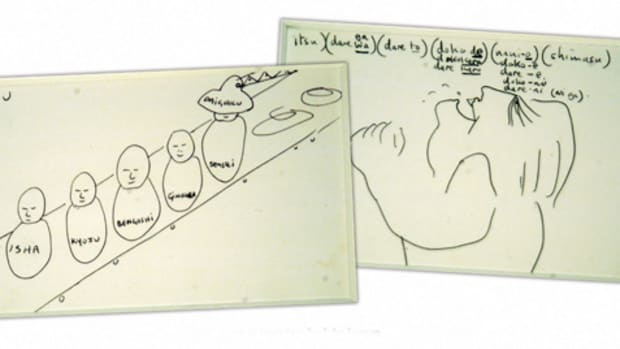 GUERNSEY'S AUCTION HOUSE has a featured lot of John Lennon's original drawings up for auction this month. Photo courtesy Guernsey's Auction House