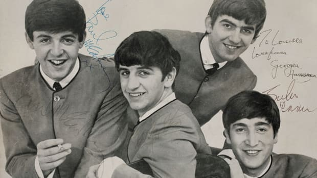 Beatles Band Signed Promo Photo