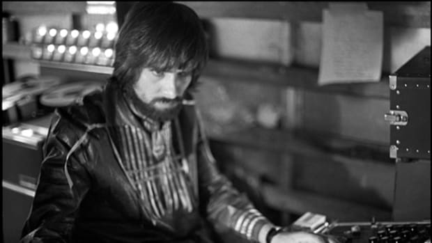 "Glyn Johns recording The Rolling Stones' ""Get Yer Ya-Ya's Out!"" at Madison Square Garden in 1970. Photo by Ethan Russell."