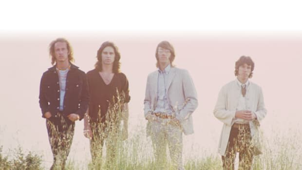 THE DOORS (from left) Robby Krieger, Jim Morrison, Ray Manzarek and John Densmore. Photo courtesy Rhino.