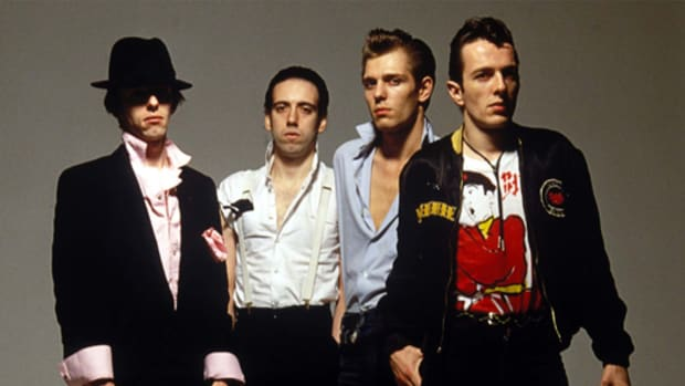 "Nicky ""Topper"" Headon, Mick Jones, Paul Simonon and Joe Strummer. Photo courtesy Epic/Legacy/Hanauer/Sipa Press."