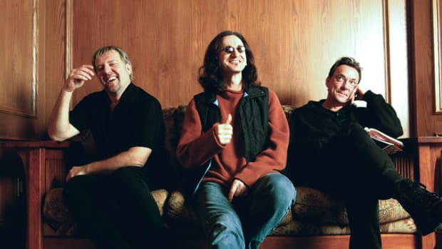 Rush Alex Lifeson Geddy Lee Neil Peart publicity photo