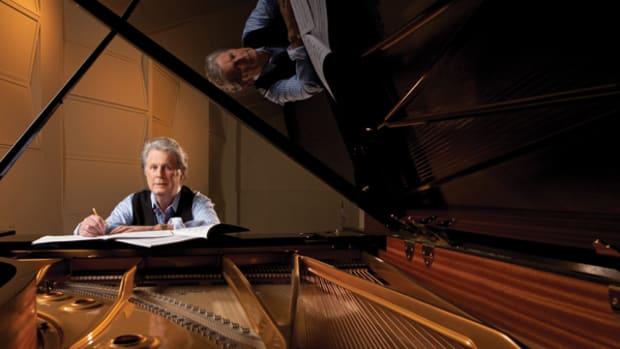 Brian Wilson hard at work at his piano. Photo by Clay Patrick McBride