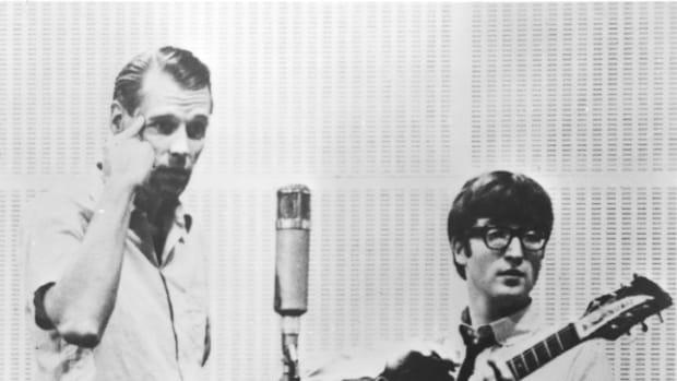 George Martin John Lennon Beatles studio