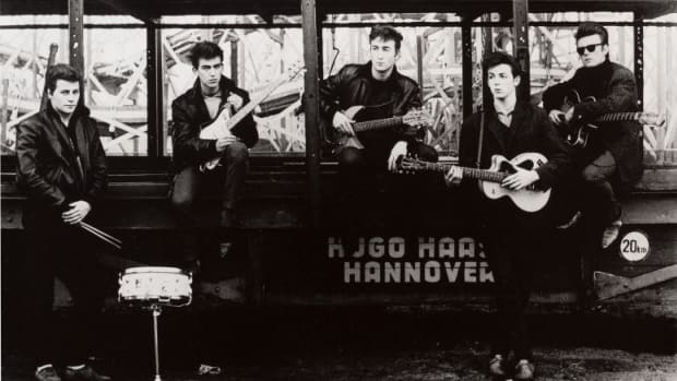 A world auction record was set during the Blaschke sale for a photograph by Astrid Kirchherr, who famously captured The Beatles during their time in Hamburg. The iconic image, The Beatles At The Hamburg Fun Fair (Hamburg, 1960), of the group from 1960 sold for $4,750, shattering the previous record of $3,700 from 2013. Image courtesy of Heritage Auctions.