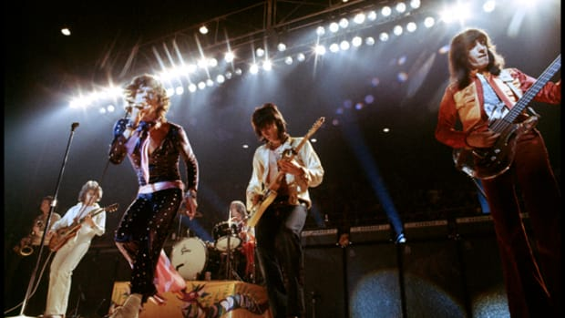 Rolling Stones onstage by Ethan Russell in 1972