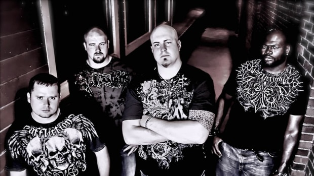 Free Reign is (left to right) Justin Chapman, Cory Procter, Marc Colombo and Leonard Davis