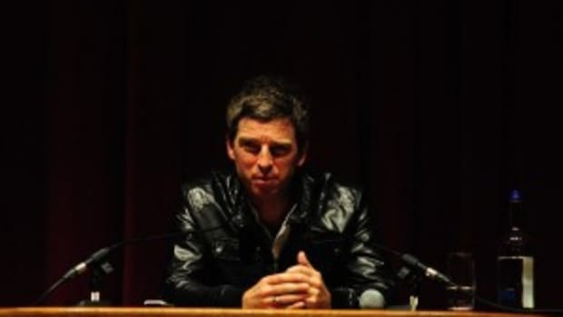 Noel Gallagher made his first public comments about the breakup of Oasis and also talked about his two forthcoming solo albums at a press conference on Wednesday, July 6th at London's Electric Cinema.