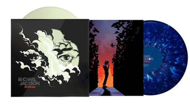 Michael Jackson - Scream [2LP] (Glow-In-The-Dark & Blue Splatter Vinyl, poster, augmented reality cover art, download, collection of dance classics plus new bonus mashup)