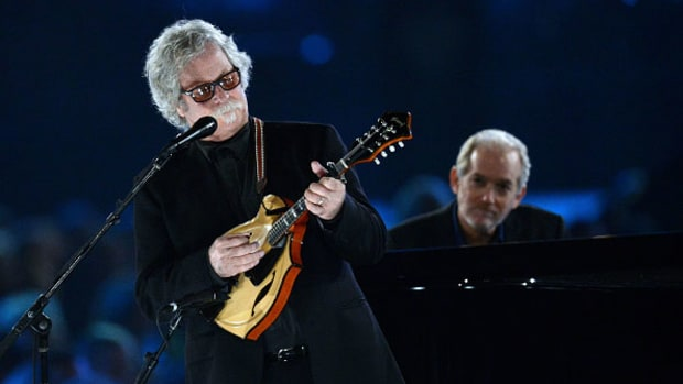 Chris Hillman and Benmont Tench perform onstage during the 2017 MusiCares Person of the Year event on February 10, 2017 in Los Angeles, California. Scott Dudelson/Getty Images.