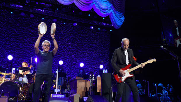 The Who's Roger Daltrey and Pete Townshend performing at New York City's Madison Square Garden on Monday, May 13th. (Photo by Frank White Photography)