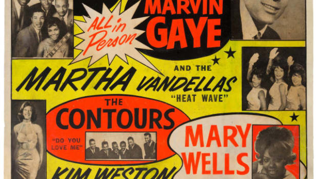 "The extremely rare ""Motortown Revue"" concert poster (1963)."