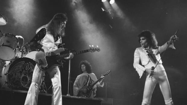 Queen: A Night in Bohemia features a concert at London's Hammersmith Odeon on Christmas Eve 1975. (Photo by Douglas Puddifoot)