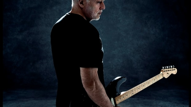 David Gilmour's North American tour, on which he is promoting his Rattle That Lock album, ended with a spectacular show at New York City's Madison Square Garden on Tuesday, April 12th. (Photo by Kevin Westenberg)