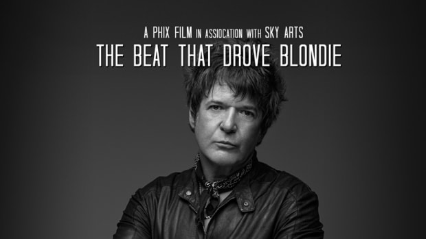 The poster for the documentary film Clem Burke: My View, which was directed by Phil Sansom, is shown here.