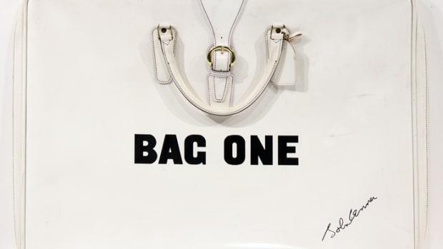 "John Lennon's ""Bag One"" portfolio. (All images courtesy of Backstage Auctions.)"