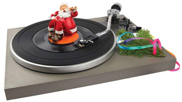 Christmas vintage record player