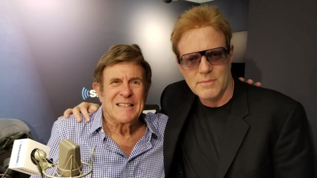Cousin Brucie (Bruce Morrow) and John (Jay Jay) French at SiriusXM radio studios. Photo courtesy of John French.