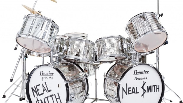 Neal Smith's 18-piece Billion Dollar Babies Tour Premier Mirror Ball drum set (opening bid: $7,500)