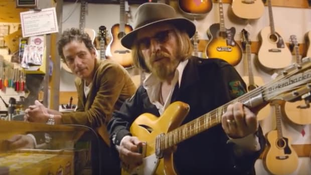 "Jakob Dylan (left) and Tom Petty in a scene from ""Echo in the Canyon."""