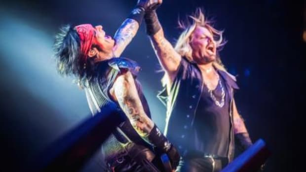"Nikki Sixx and Vince Neil in ""The End."" (Credit: Dustin Jack)"