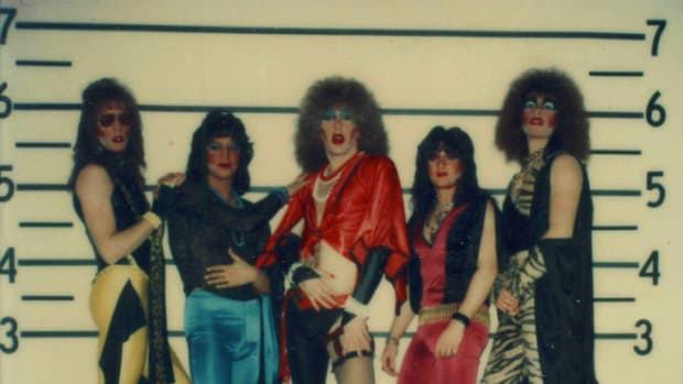 A vintage lineup: Jay Jay French, Eddie Ojeda, Dee Snider, Tony Petri, Mark Mendoza. (Photo courtesy of Music Box Films)