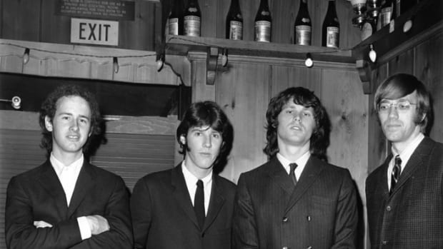 Early Doors (L-R): Robby Krieger, John Densmore, Jim Morrison and Ray Manzarek. Michael Ochs Archives/Getty Images