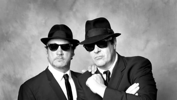 "Jim ""Brother Zee"" Belushi (left) and Dan ""Elwood Blues"" Aykroyd (right) teamed to perform a fun and memorable show as The Blues Brothers at the Wellmont Theater in Montclair, NJ on Friday, March 4th. (Photo by Stephanie Alexander)"