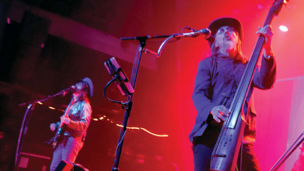 Sean Lennon and Les Claypool of Claypool Lennon Delirium perform at the Fonda Theater on July 29, 2016 in Hollywood, California. (Photo by Jeff Kravitz/FilmMagic)